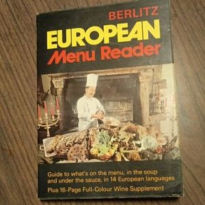 Vintage 1975 Berlitz European menu reader